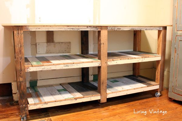 New Laundry Room Cabinets Built Using Reclaimed Wood - Living Vintage - see pics for how to....