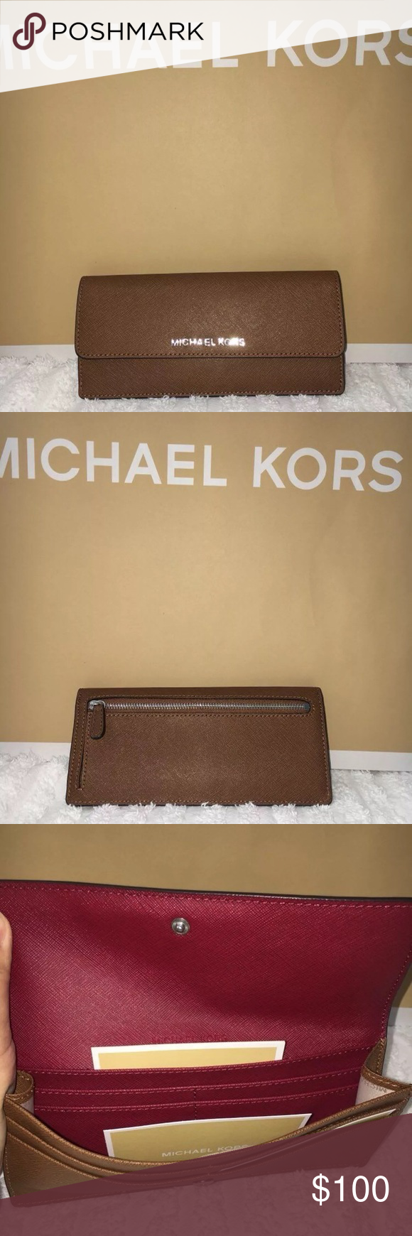 0dda3c36e4cd MK Jetset Travel Slim wallet Brand new never used Michael Kors Jet Set  Travel Slim Saffiano