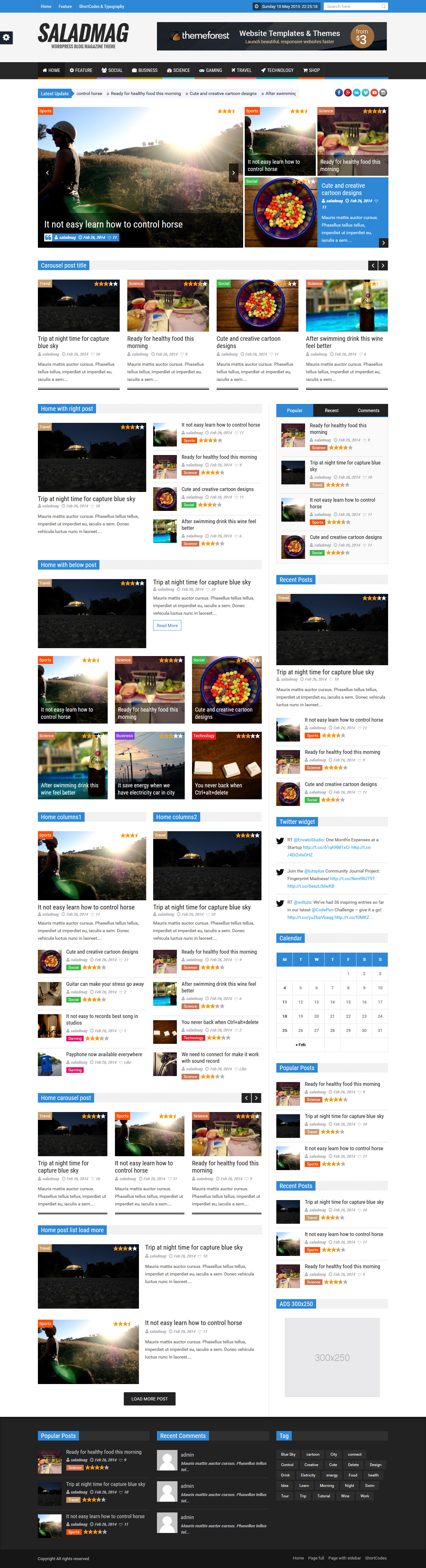 SaladMag - Responsive WordPress Magazine Theme #wp #magazinetemplate ...
