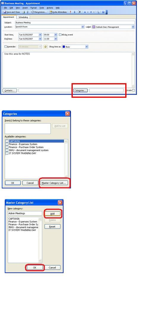 Microsoft Outlook \u2013 Creating Contacts and Categories Microsoft