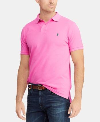 567150fb43f550 Polo Ralph Lauren Men's Big & Tall Classic Fit Mesh Cotton Polo - Pink 4LT