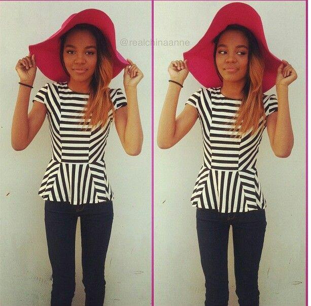 China Anne Mcclain!! I love that hatt!