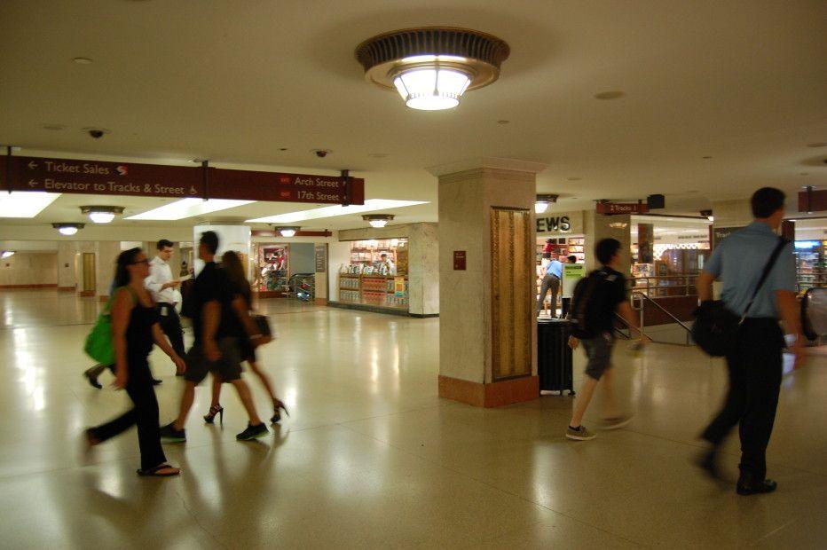 Underground concourse in Suburban Station Philadelphia ...