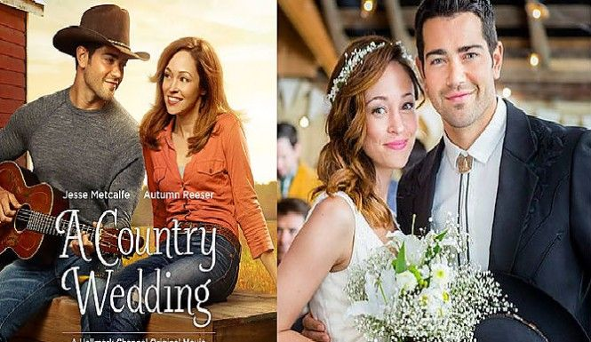 A Country Wedding Desperate Housewives Hunk Jesse Metcalfe Sings In Hallmark Movie Starring Autumn Reeser Movies Hallmark Movies Country Wedding