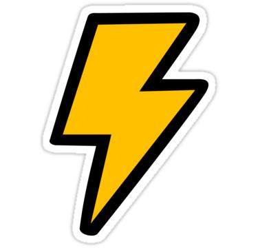 Cartoon Lightning Bolt Sticker By Jezkemp Lightning Lightning Bolt Lightning Strikes