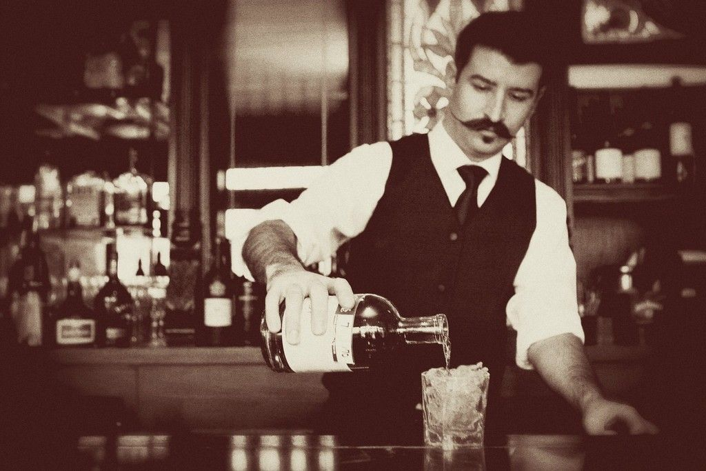Speakeasy Theme Wedding Old World Bartender Full Bar
