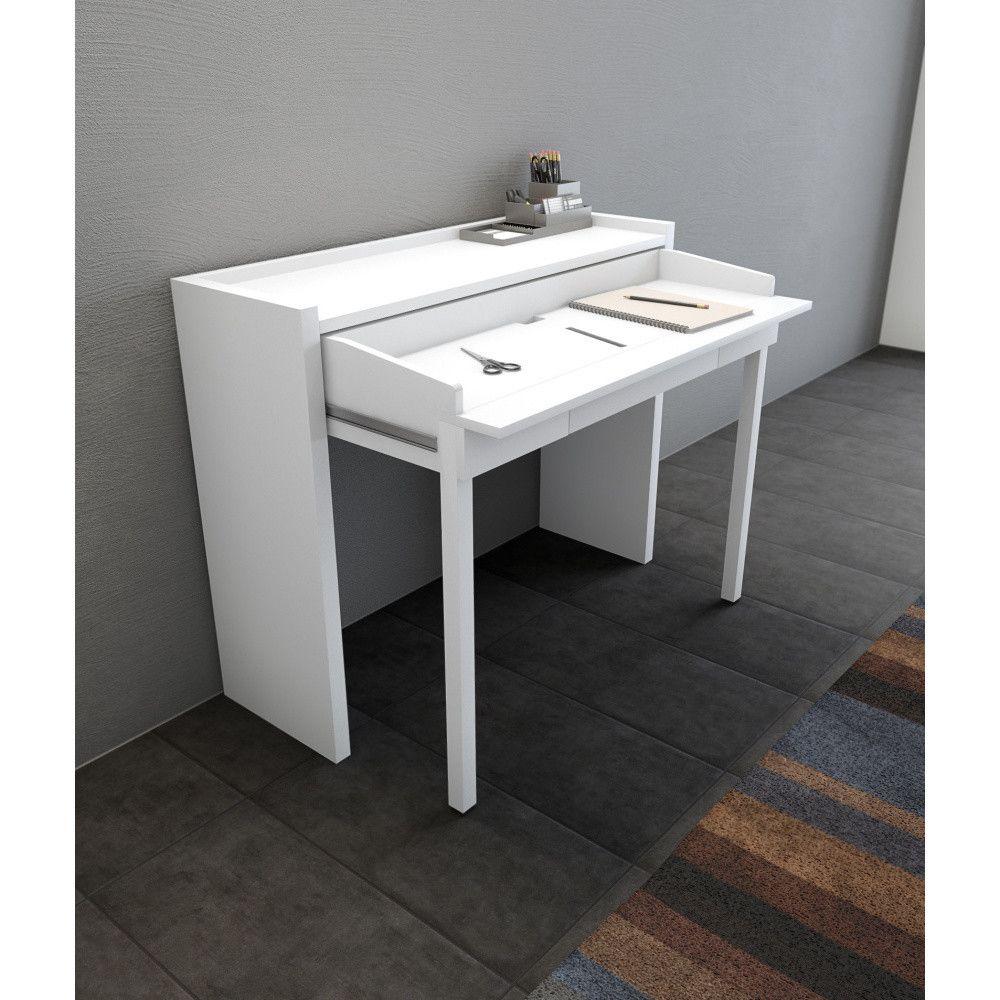 Bily Vysouvaci Psaci Stul Woodman 16 Mel Console Desk Office Desk Modern Console Desk