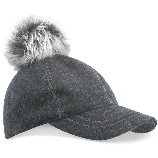 b9d1bd3f36796 Ugg Fur Pom Pom Baseball Hat (185.635 COP) ❤ liked on Polyvore featuring  accessories