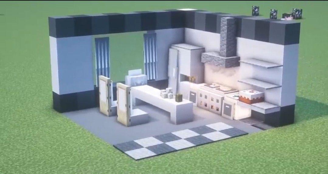 Simple Kitchen | Minecraft em 2020 | Ideias de minecraft ...