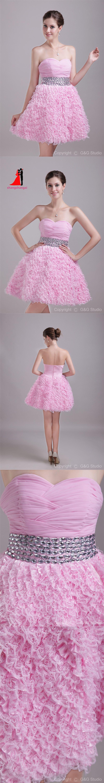 Sexy Mini Pink Homecoming Dresses Beads Belt Puffy Lace Skirt