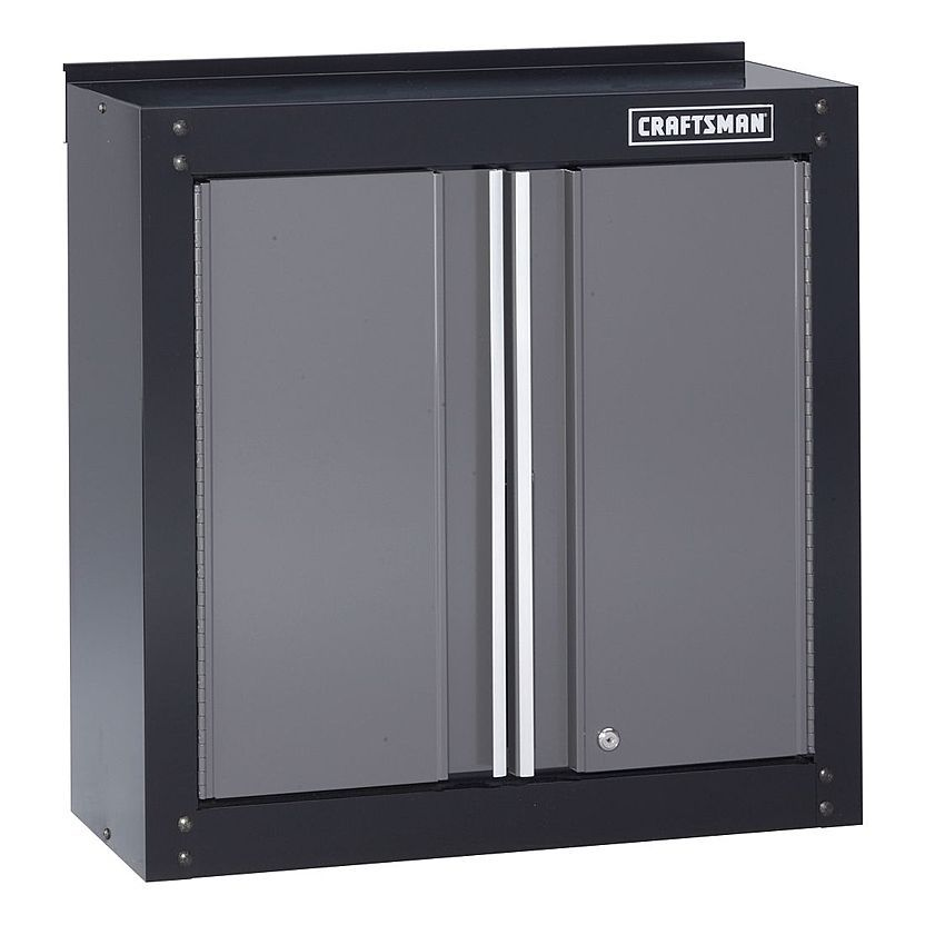 Craftsman 28 Wide Wall Cabinet Black Platinum