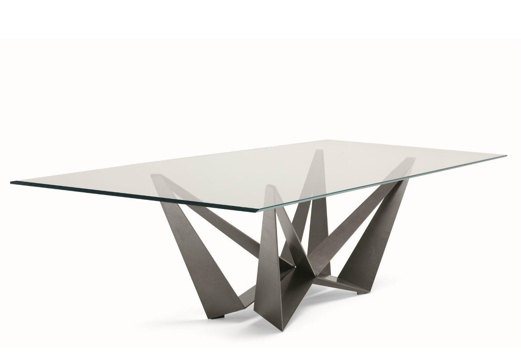Tavolo Skorpio ~ Tavolo rettangolare in cristallo skorpio tavolo rettangolare