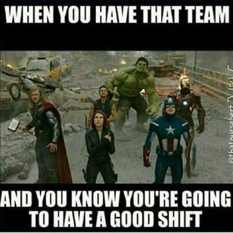 When you have that team and you know you're going to have