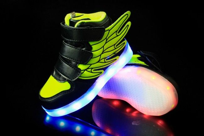Kids' Luminous Shoes With Wings Fluorescent Green