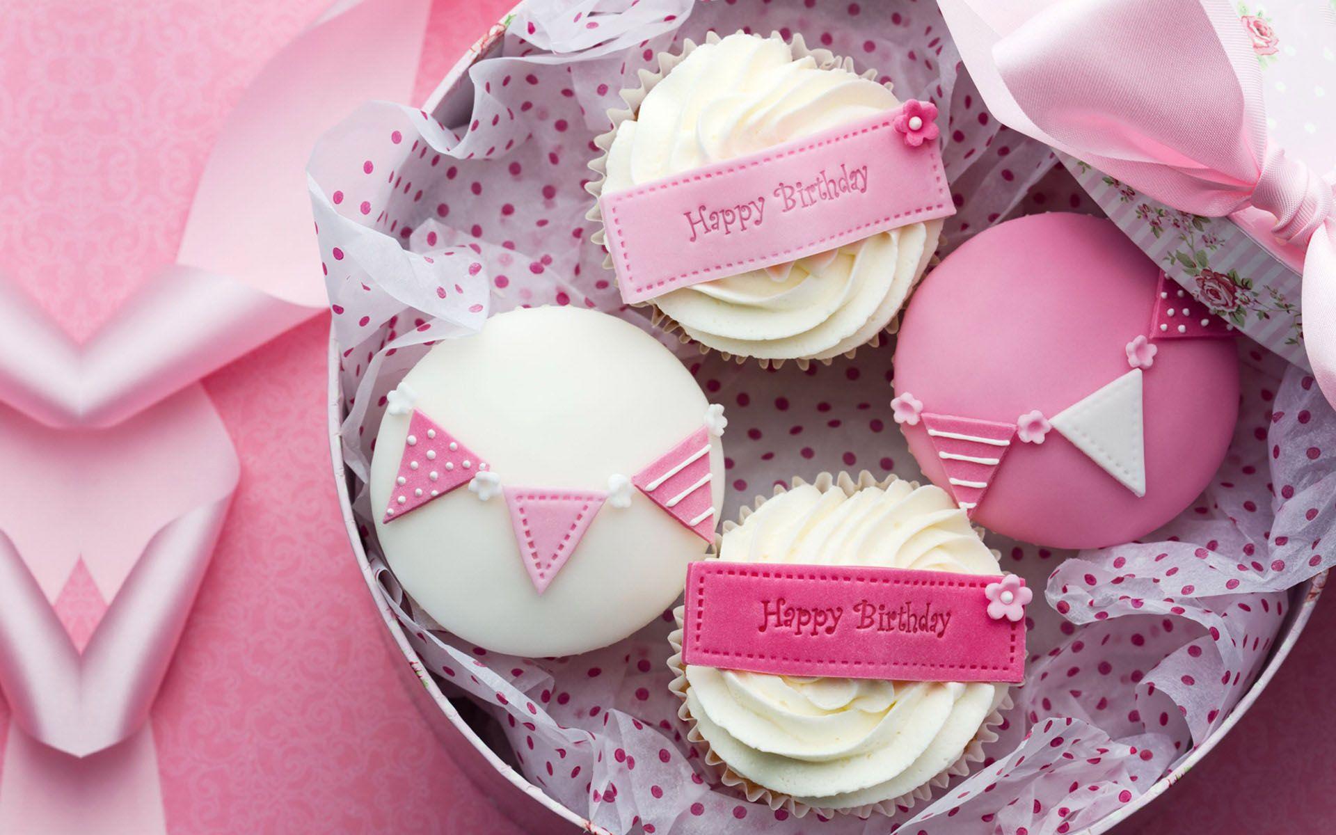 Cute Happy Birthday Wallpaper 6048 Delicious Cupcakes Pinterest