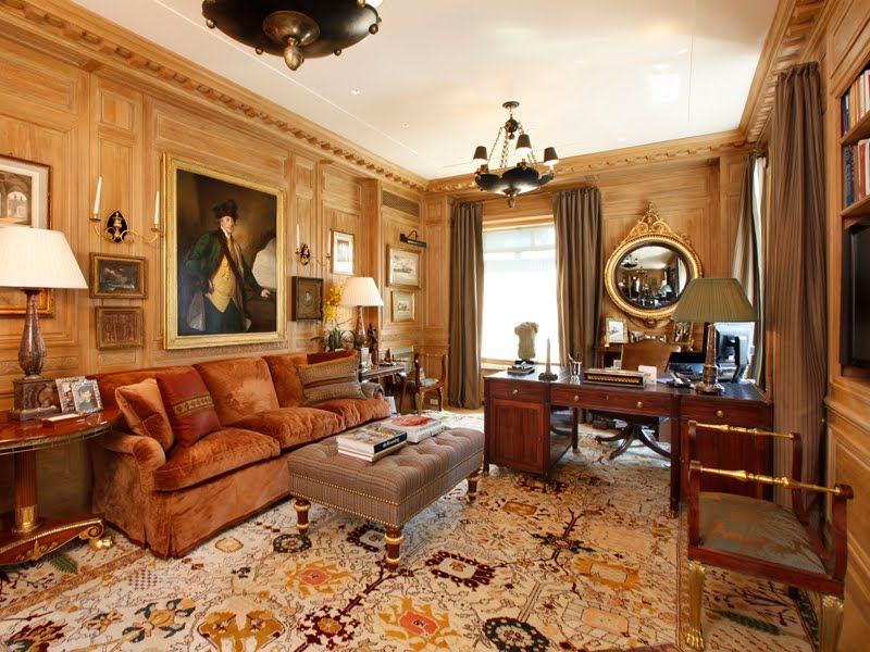 Beautiful home office in New York by Michael S. Smith.