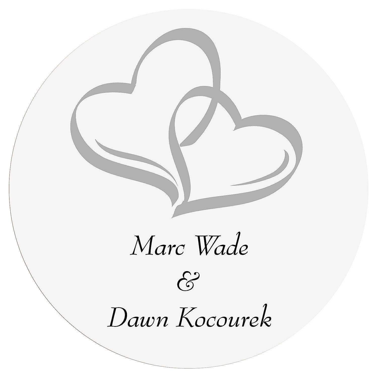 Personalized Two Hearts Wedding Favor Stickers | Favors, Weddings ...