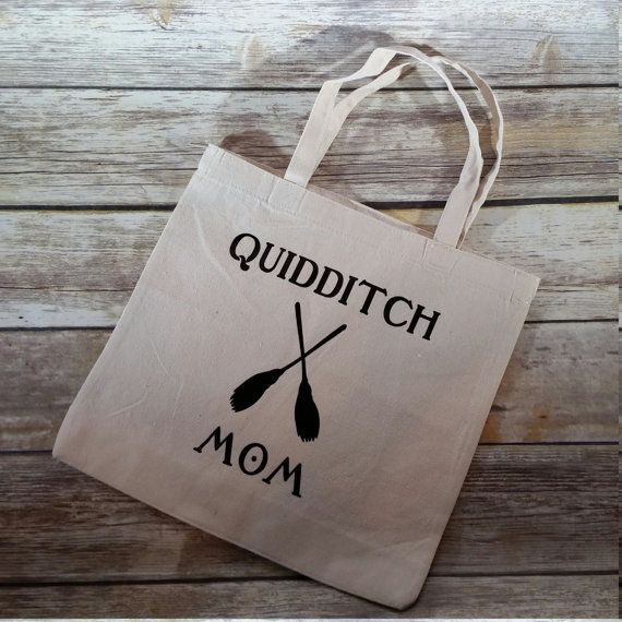 Quidditch Mom Tote Harry Potter Bag Canvas by MoonChildCraftsShop