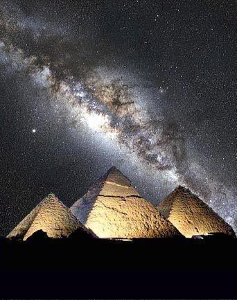 Milky Way And The Great Pyramids Via Lactea Piramides Do
