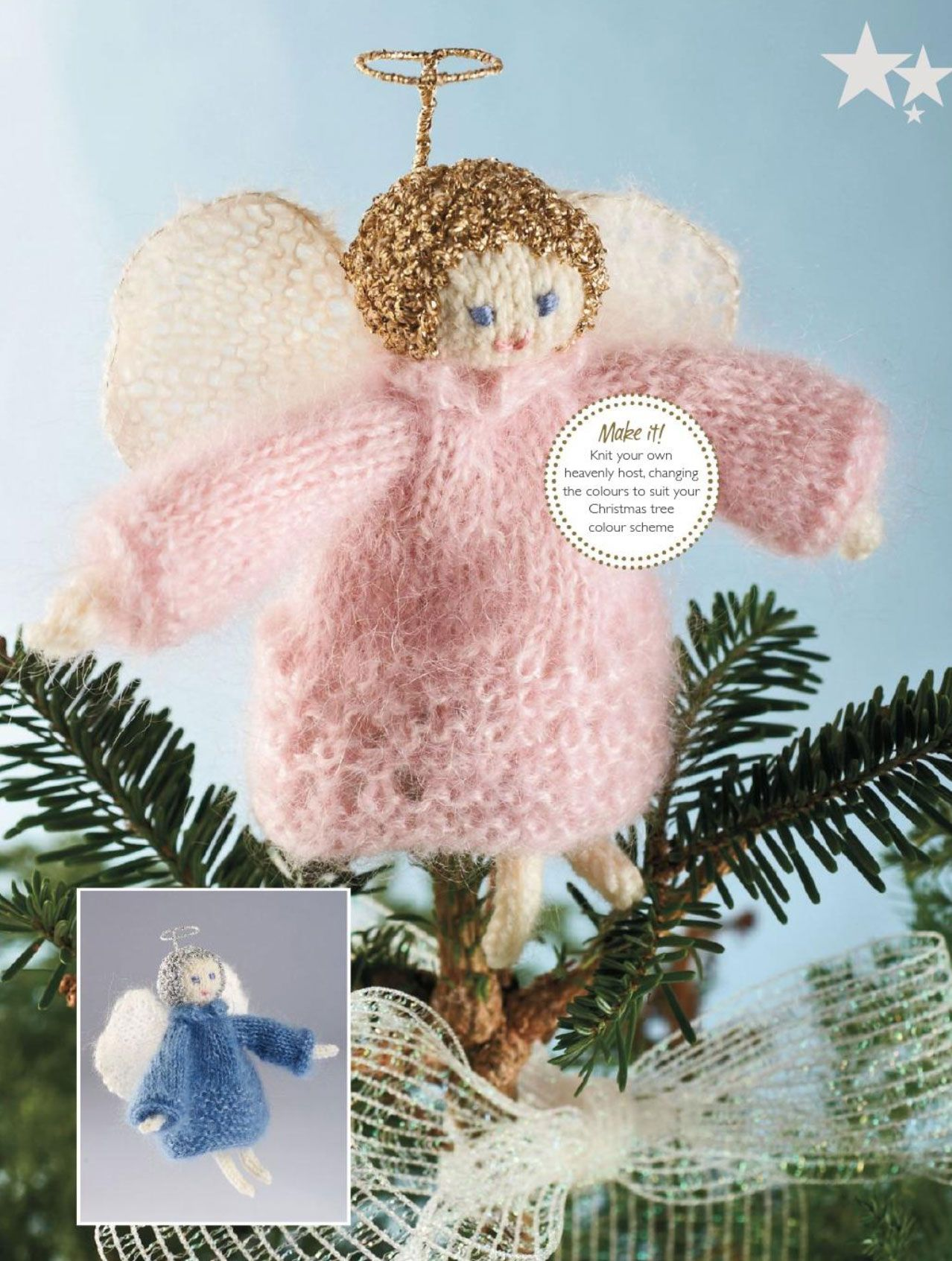 Knitted angel knit it pinterest angel xmas tree and xmas ornament knitted angel bankloansurffo Choice Image