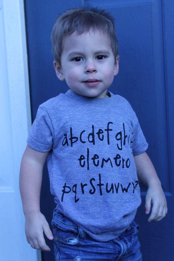 abcdefghijk elemeno pqrstuvwxyz Alphabet tshirt by LittleBLove