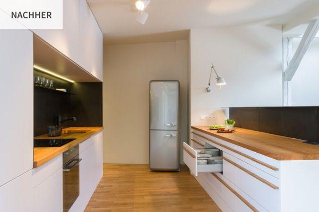 Arbeitsplatte kuche holz eiche k che kitchen cabinets for Arbeitsplatte kuche holz