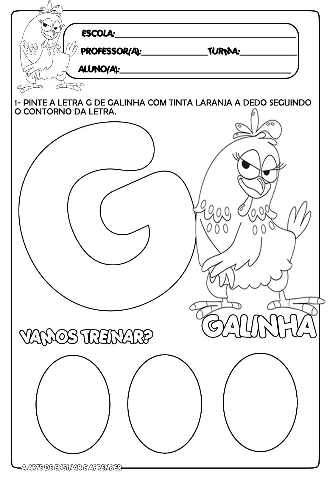 Preferência Atividade pronta letra G | Educação Infantil | Pinterest | Ensinar  PR12