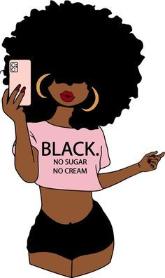 Woman Bundle svg, Selfie Natural Curly, Afro Girl, Curvy girl clipart, Fashion girl clipart, black no sugar no cream, African American