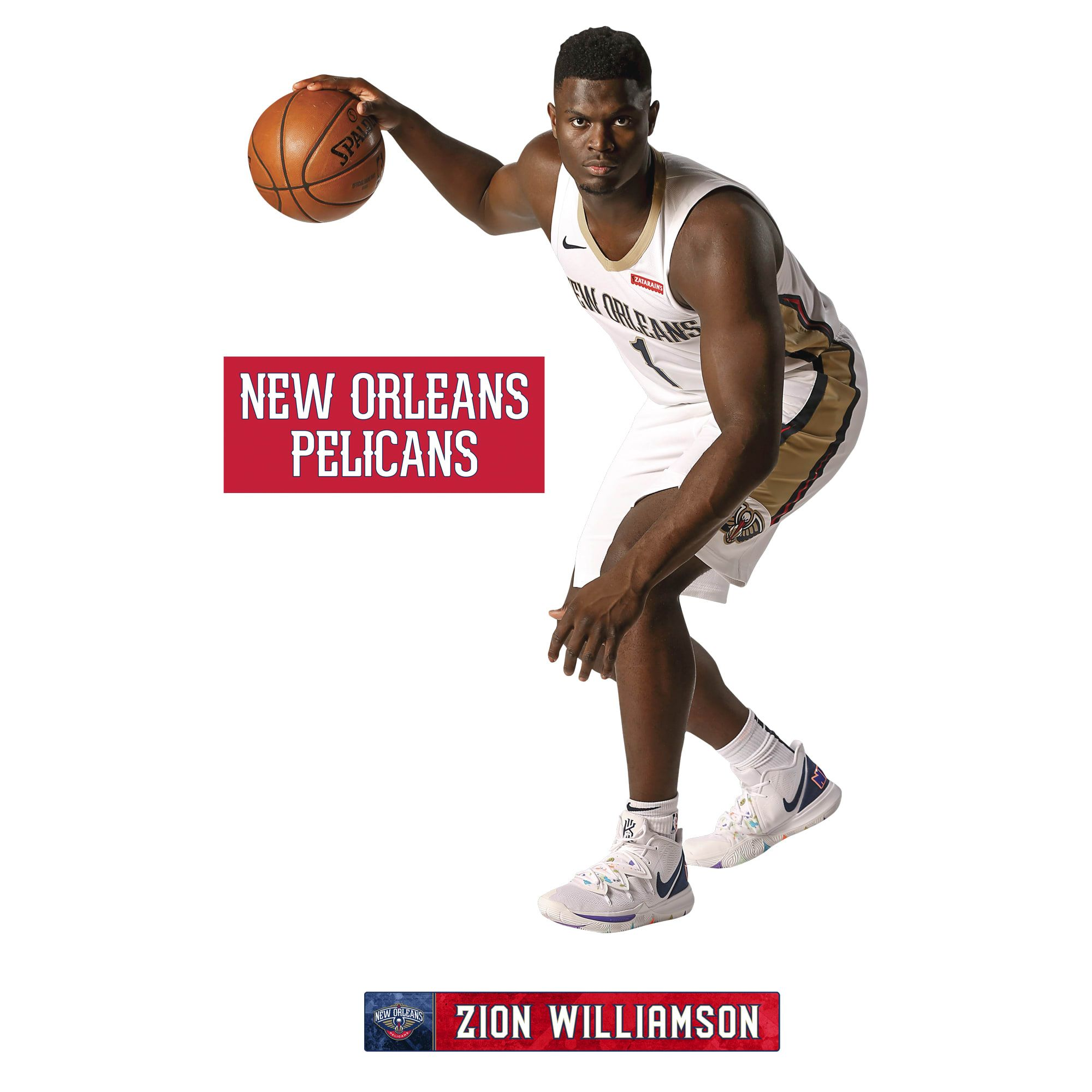Zion Williamson Life Size Officially Licensed Nba Removable Wall Decal In 2020 Removable Wall Decals Removable Wall Usa Print
