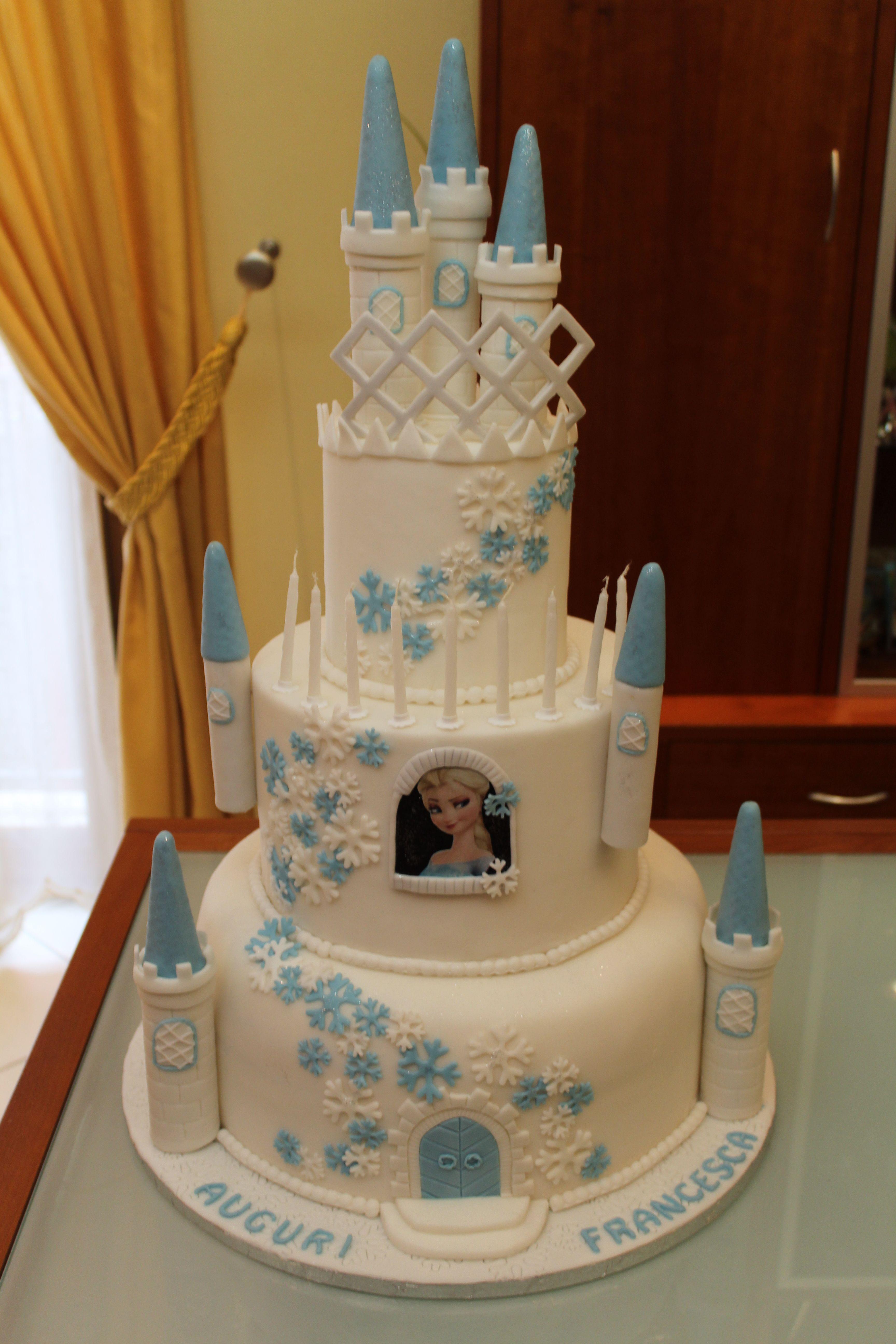 риты торт замок с анной эльзой фото внутренних внешних