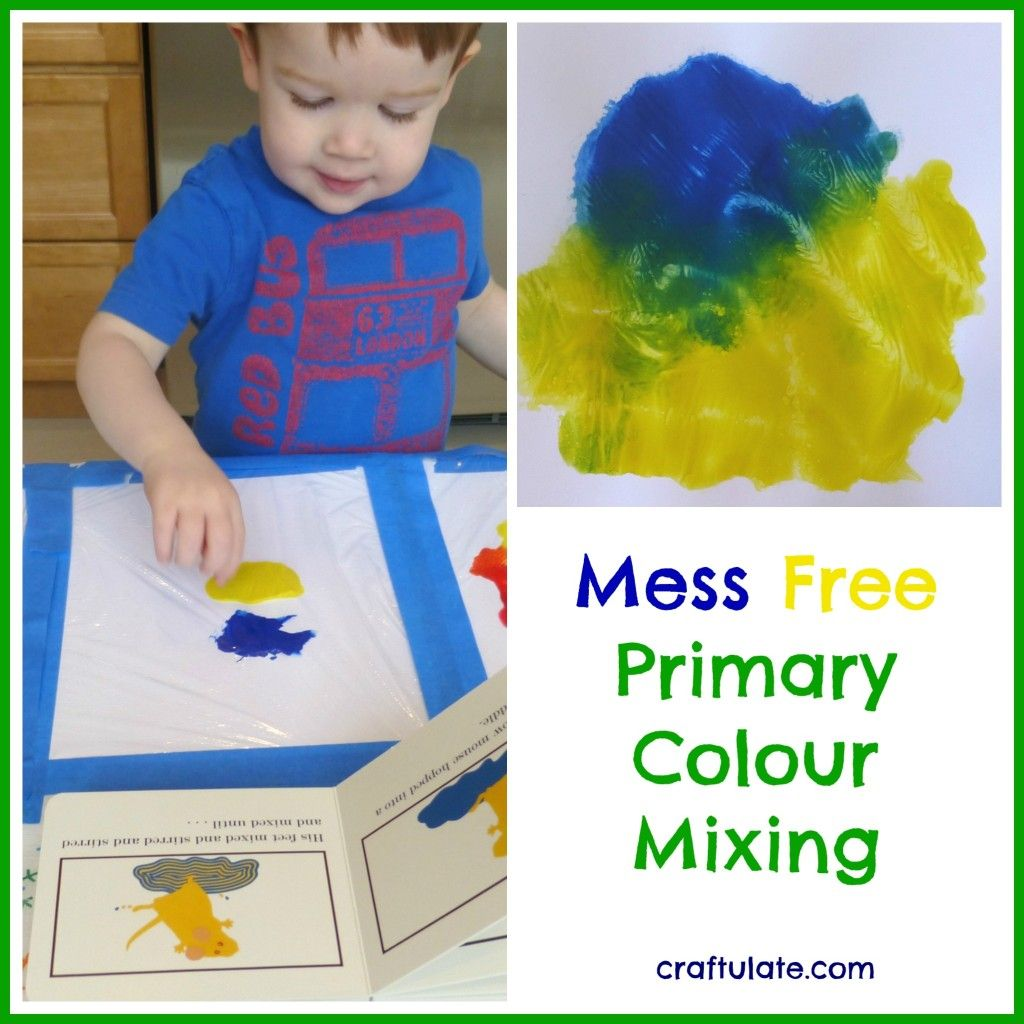 Mess Free Primary Colour Mixing Mouse Paint