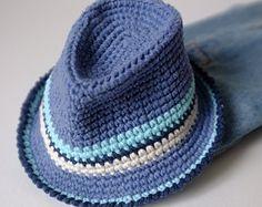 Sombrero fedora crochet- patrón gratis  fd4aaaac8b8