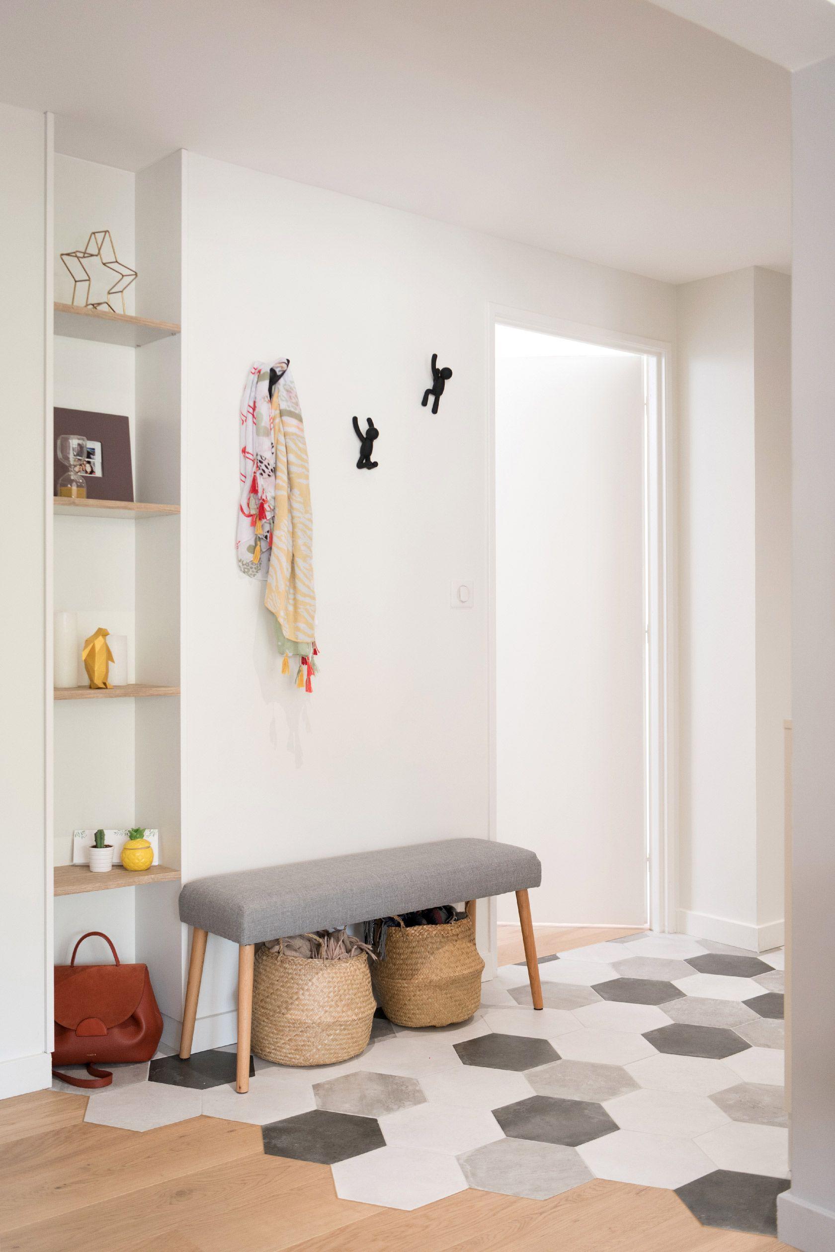 Skea Designer Deco Salon Blanc Carrelage Carreaux De Ciment