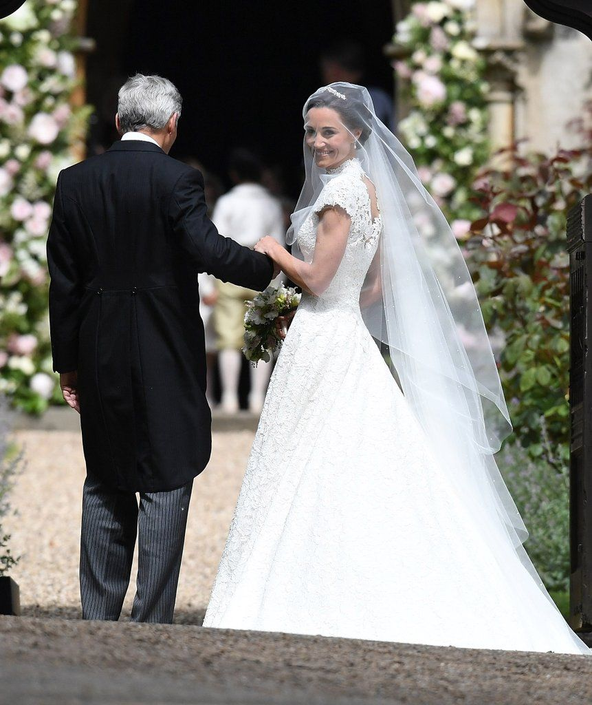 7bea83facb9 Pippa Middleton s Wedding Dress Is a High-Necked
