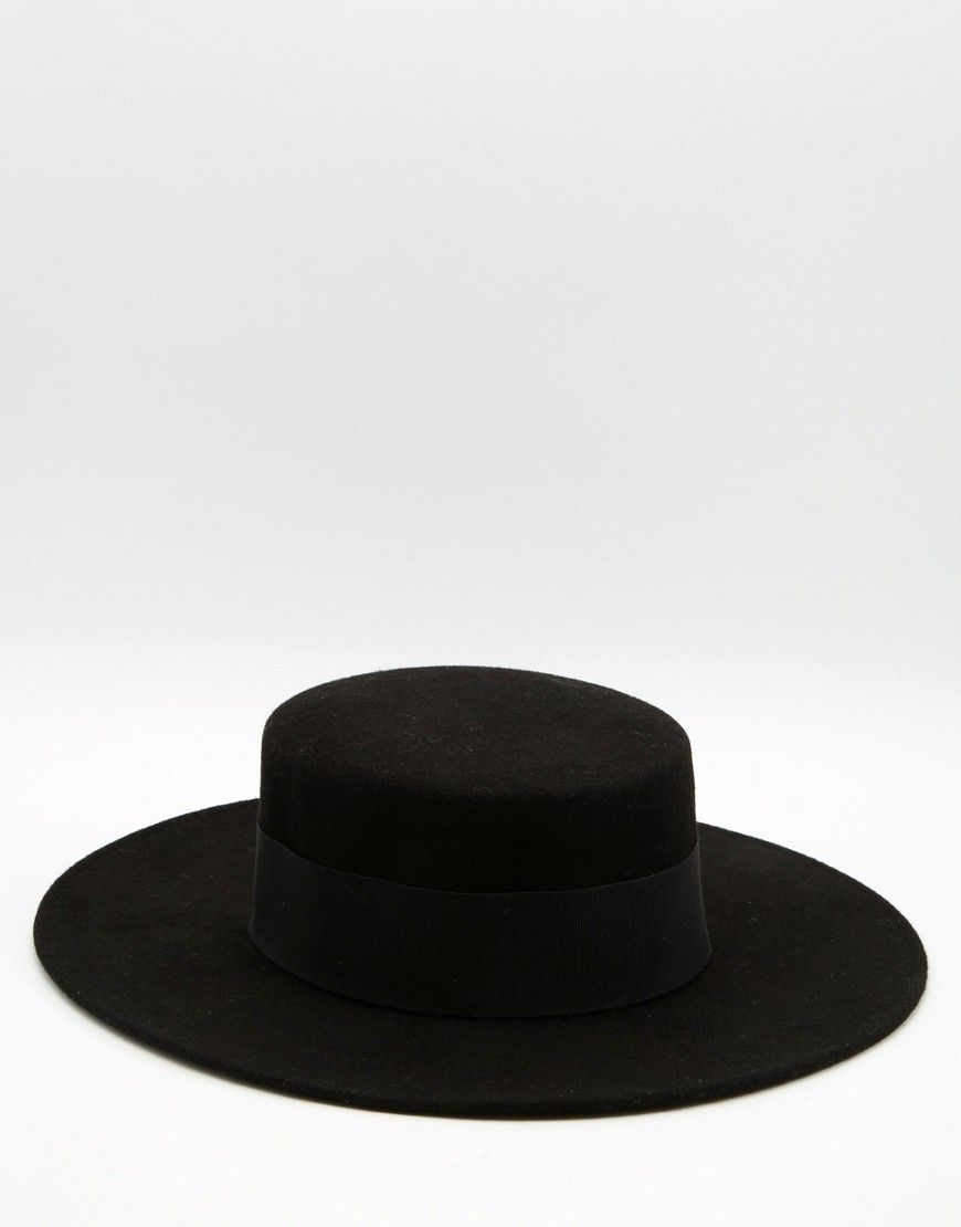 Image 1 of Catarzi Flat Top Wide Brim Hat 911f8770438