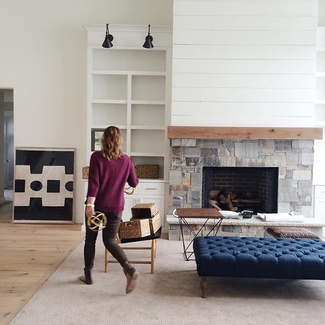 stone and shiplap fireplace the wood beam and stone blends seamlessly with the shiplap