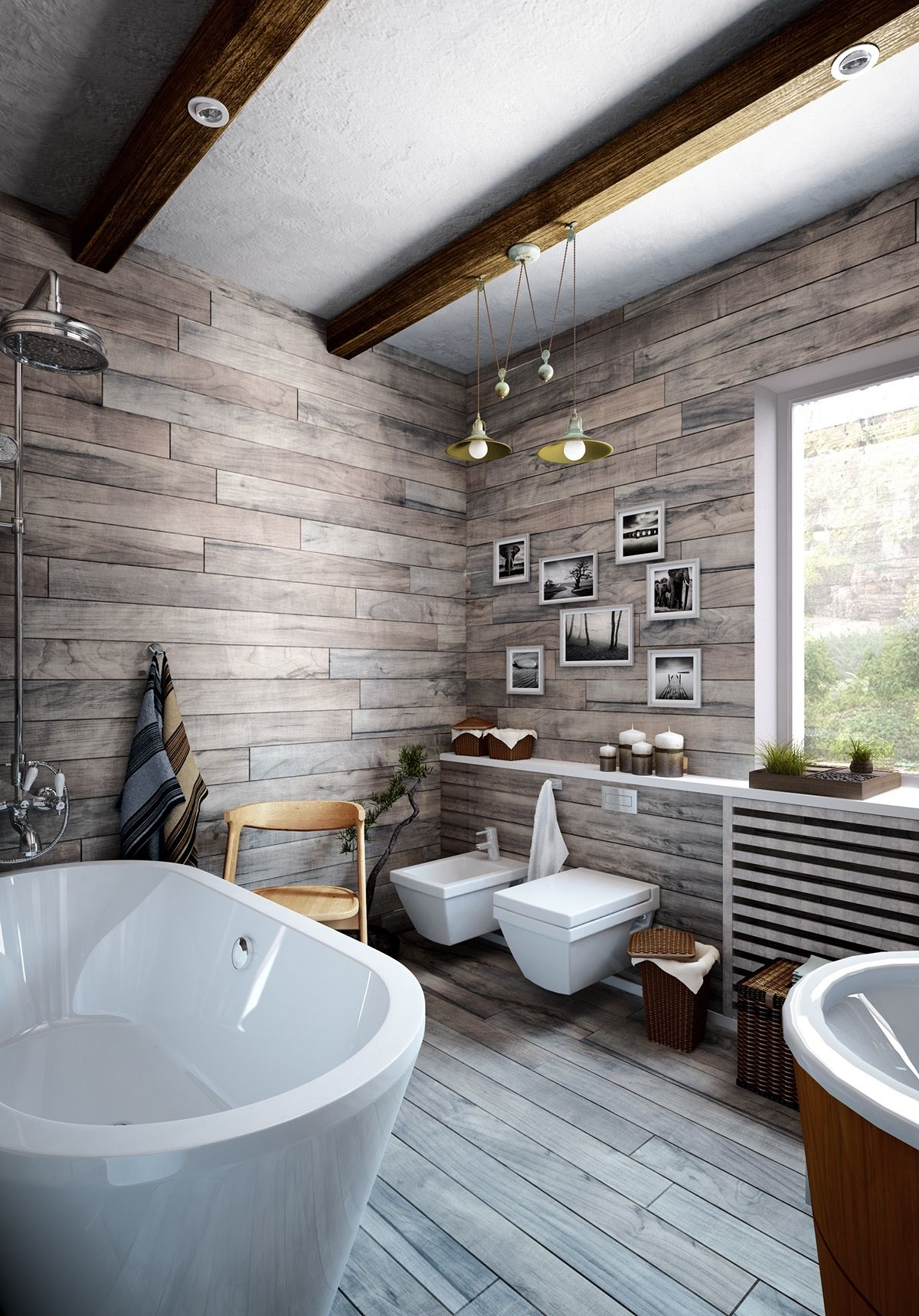 Modern Bathroom Design Ideas Using a Wooden Accent As The Main ...