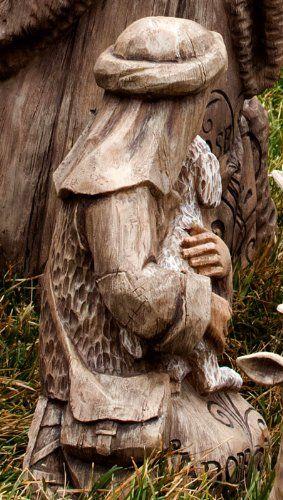 Large Nativity Shepherd Boy Statuary Outdoor Statues Patio Lawn