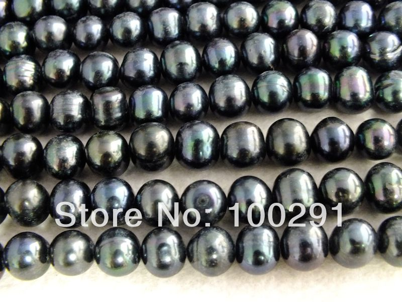 W-075 Wholesale 10Strands AAA+++ Best Quality 5*6mm Peacock Green 16'' Round Freshwater Pearl Strand  $90.33