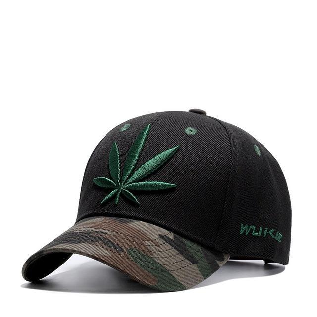 High Quality Canna-bis Leaf Embroidered Baseball Cap  0ec32381c2e5
