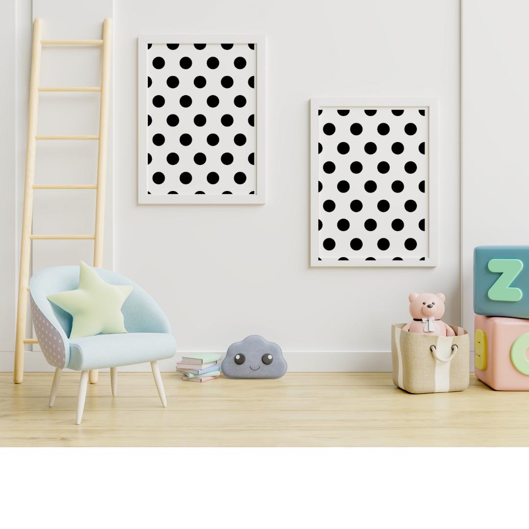 Polka Dots Wall Sticker - Dark Silver