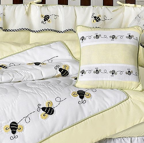 BUMBLE BEE 9pc CRIB BABY BEDDING SET FOR NEWBORN GIRL BOY BY SWEET JOJO DESIGNS