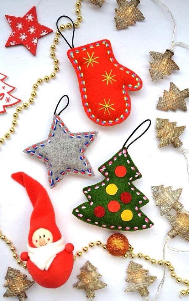 Christmas Tree Toys Handmade.Felt Christmas Tree Decoration Ornaments Toys Mouse In