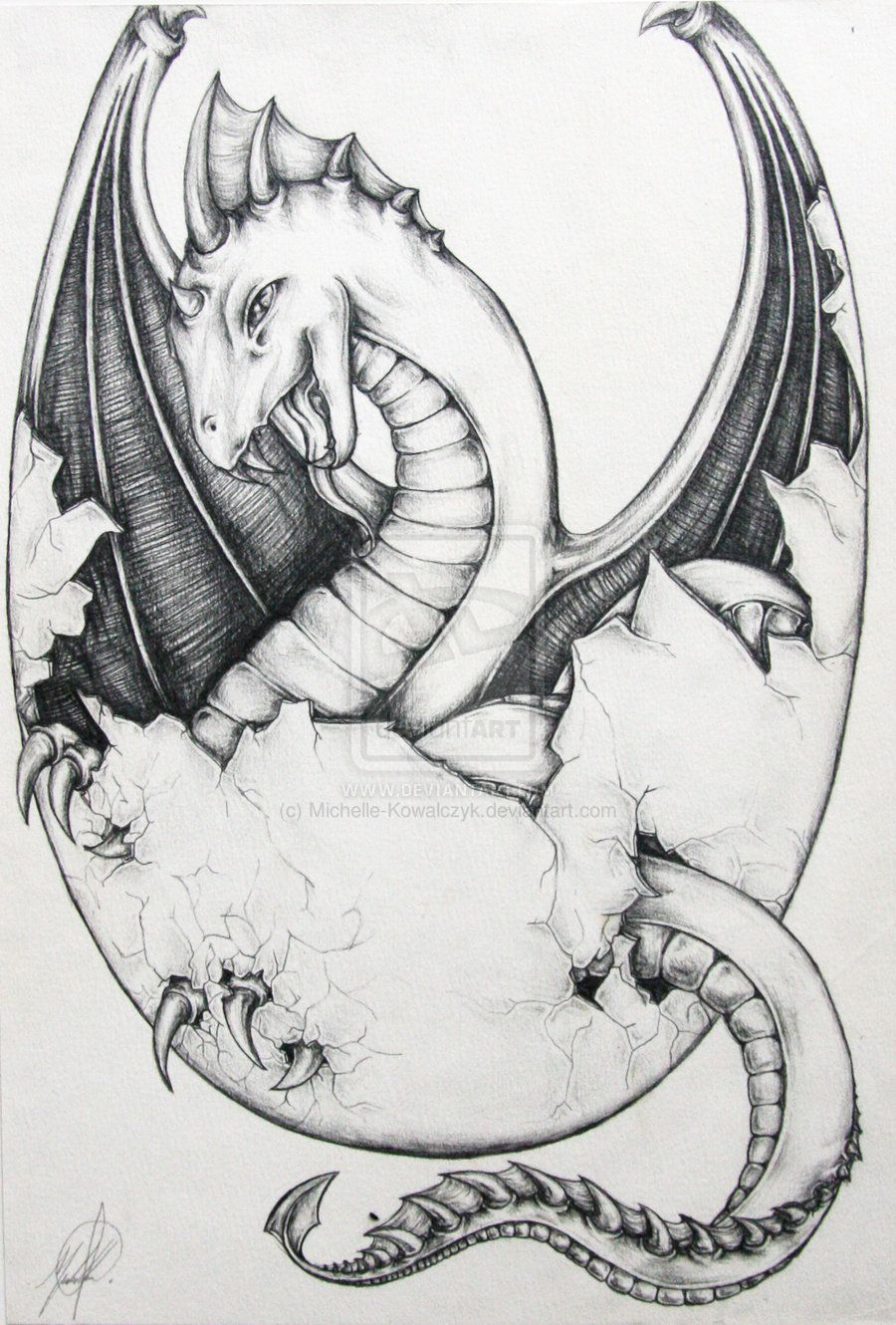 Raaawrrrr Baby Dragon Egg Vr2 By Michelle Kowalczyk On Deviantart Baby Dragon Tattoos Dragon Drawing Baby Dragon Art