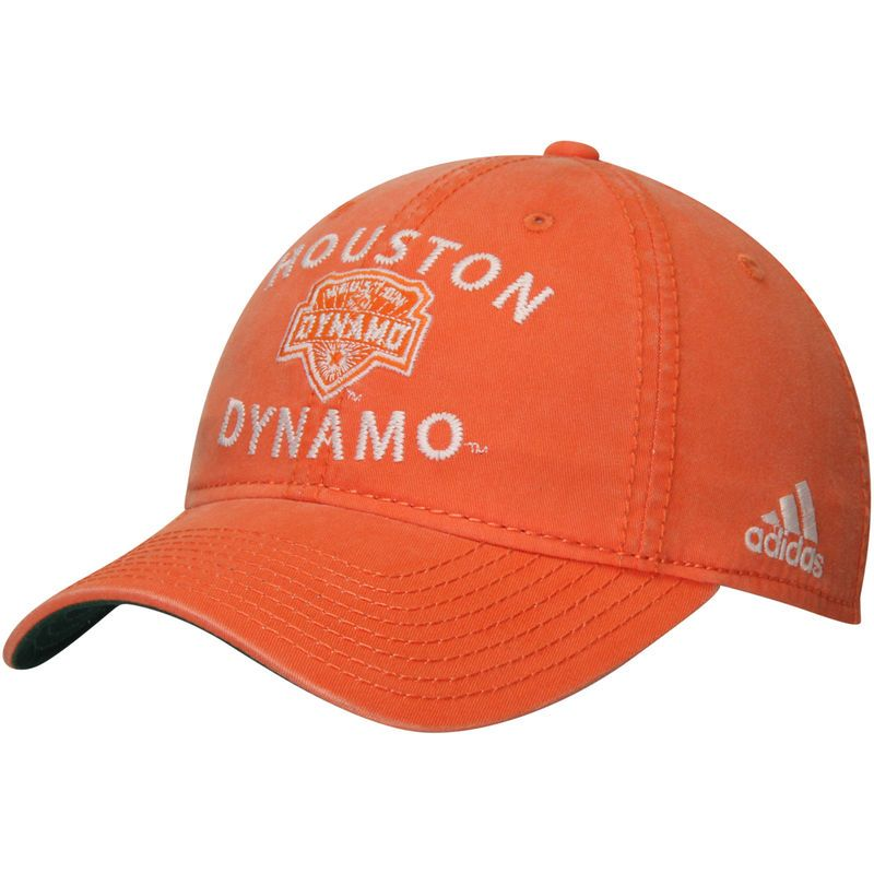 93a9961cf13 Houston Dynamo adidas Washed Slouch Adjustable Hat - Orange ...