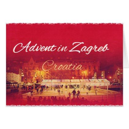 Christmas greeting card advent in zagreb christmas greeting cards m4hsunfo