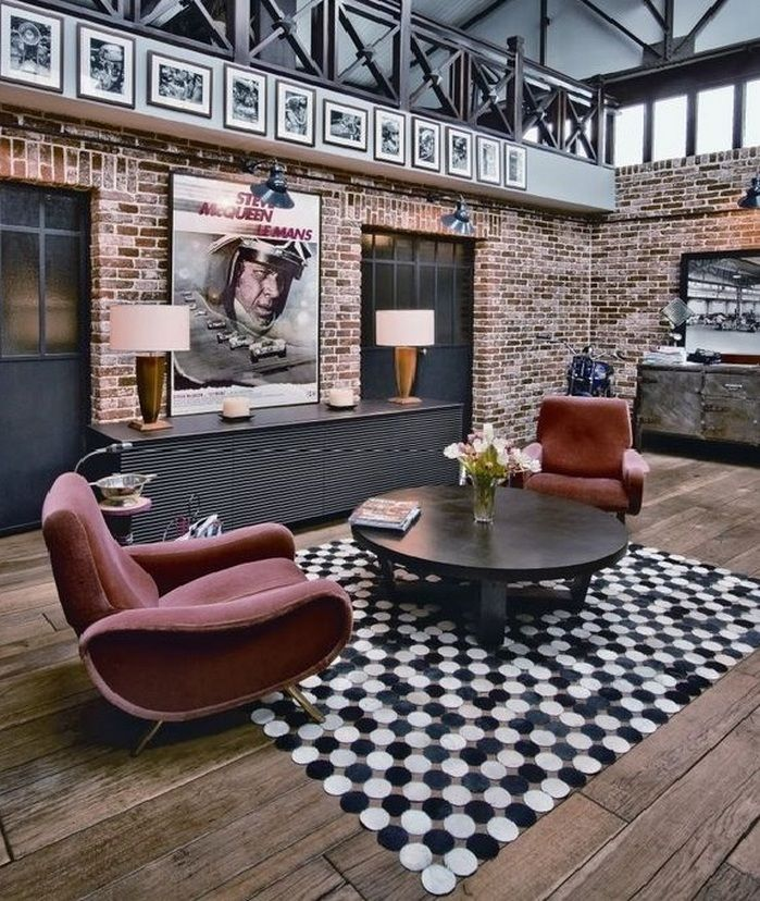 Superb 50+ Amazing Brick Wall Interior Living Room Ideas_51