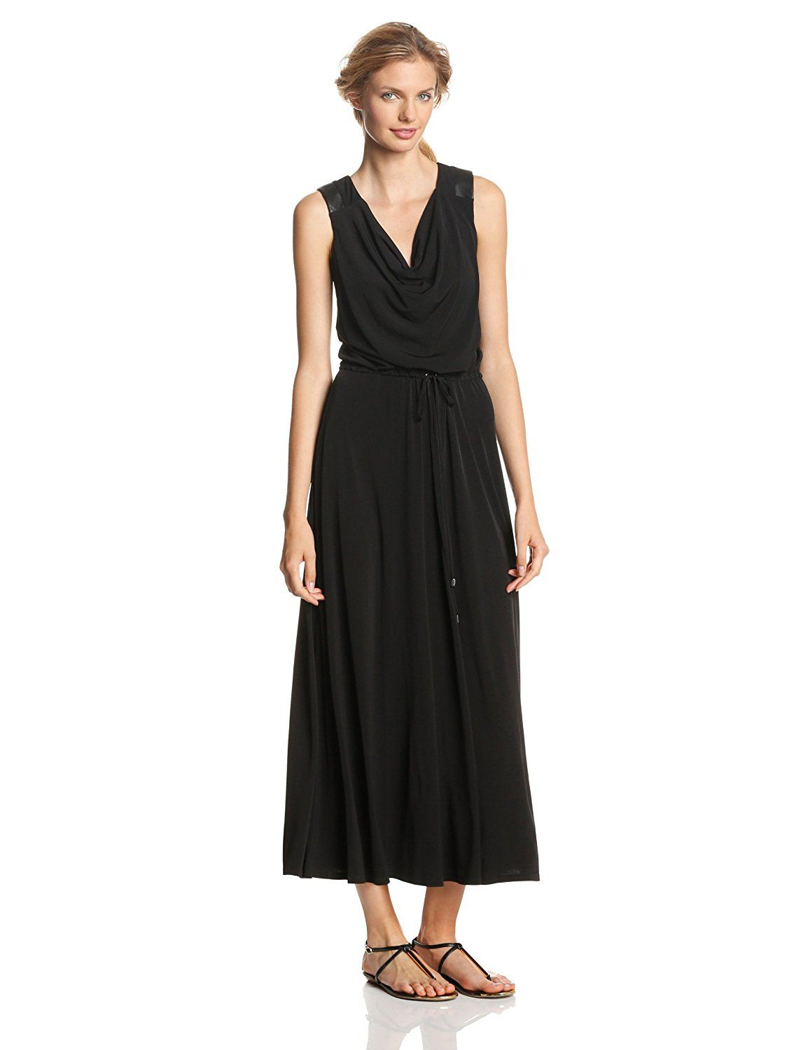 6c85ff582e5 Calvin Klein Women s Maxi Dress with Faux Leather Trim     Startling review  available here   Women s dresses