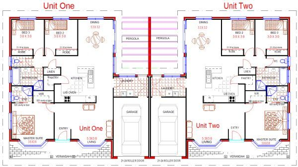 3x3 Duplex Plan Might Have To Try This Pinterest