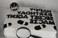 secret agent birthday cake - Google Search
